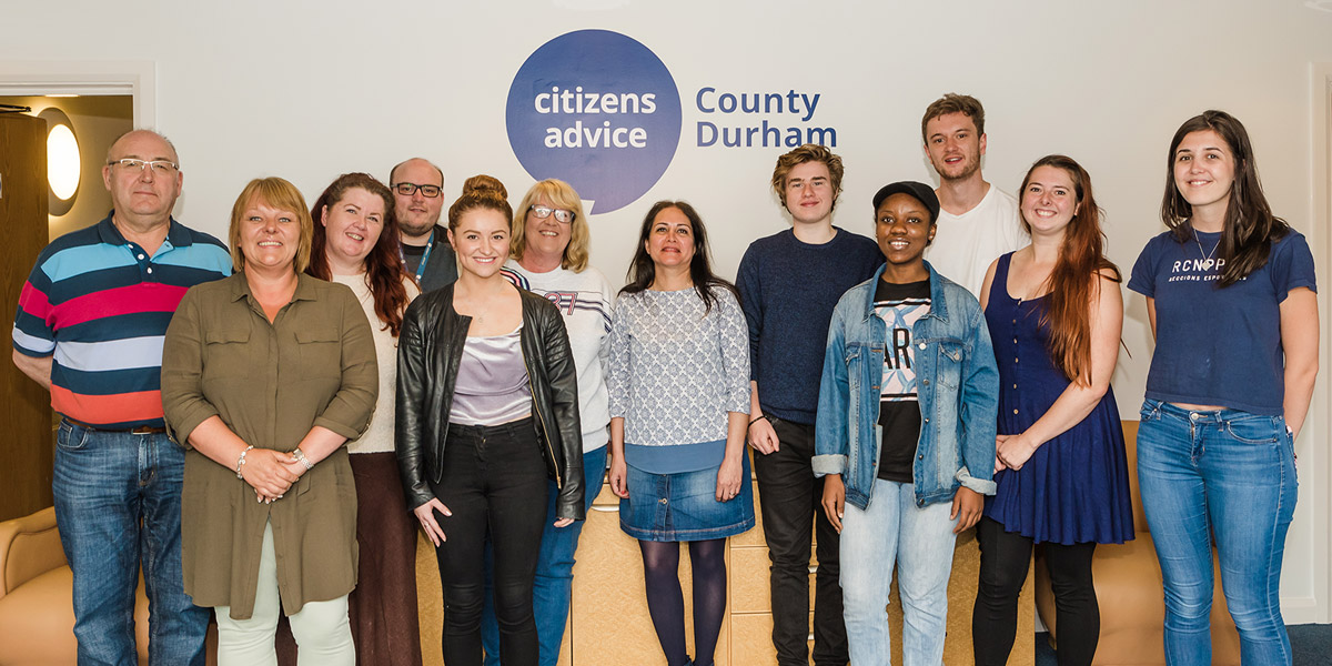 Closed – Students Apply now to become a volunteer with Citizens Advice County Durham