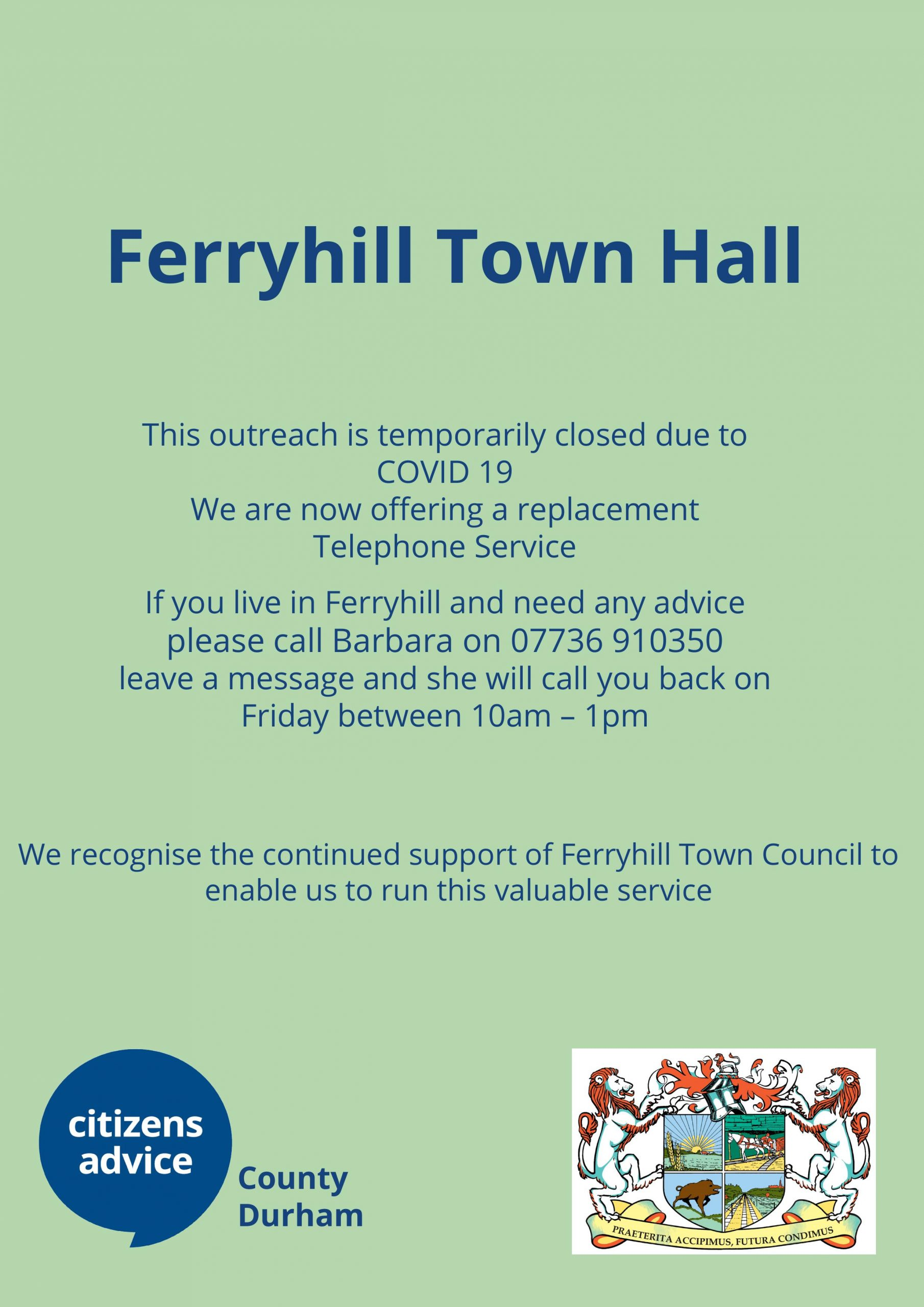 Ferryhill Town Council Outreach service