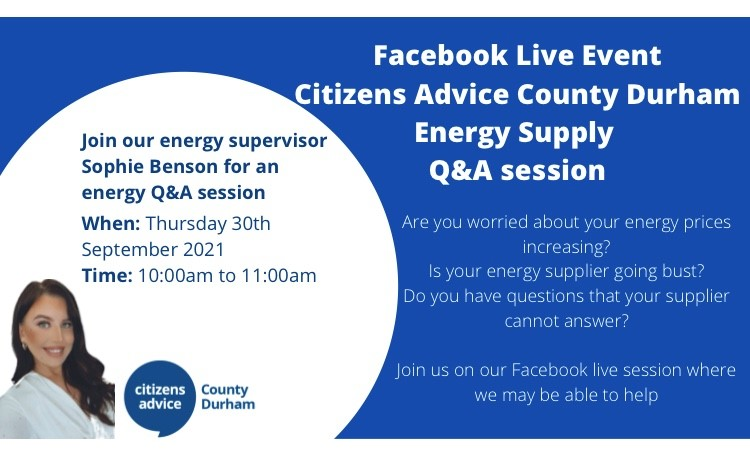Join us on Thursday for our LIVE Facebook Energy event