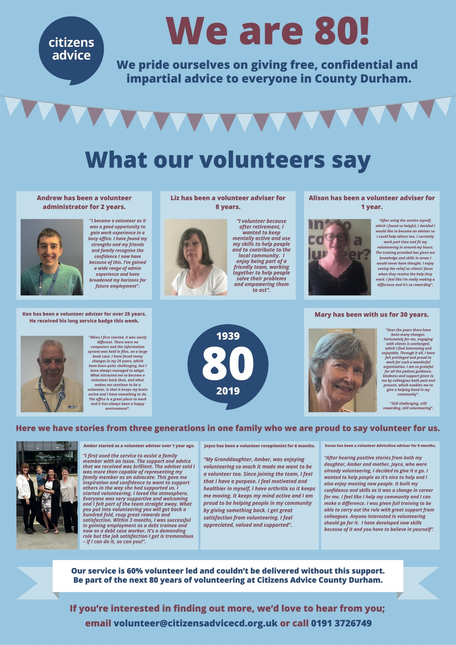What our volunteers say